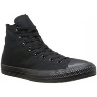 Scarpe Sneakers alte All Star Scarpe Hi Canvas Monocromatiche Nero