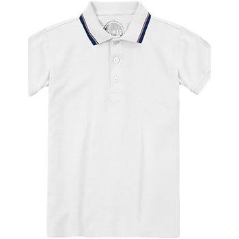 Abbigliamento Unisex bambino Polo maniche corte Colmar Polo Bambino Piquet Profilata Bianco