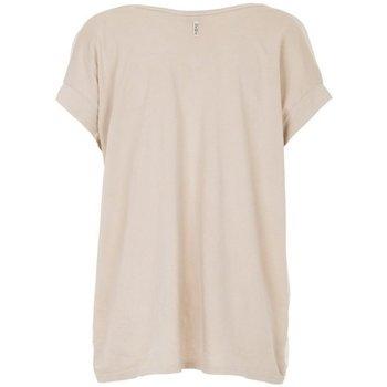 Abbigliamento Donna T-shirt maniche corte Deha T-Shirt Donna Scollo V Beige