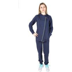 Abbigliamento Donna Tuta Champion Tuta Donna Cotton Lycra Zip Diagonal Blu