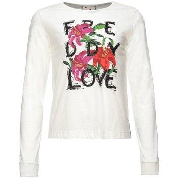Abbigliamento Bambina T-shirts a maniche lunghe Freddy T-shirt manica lunga bambina Bianco