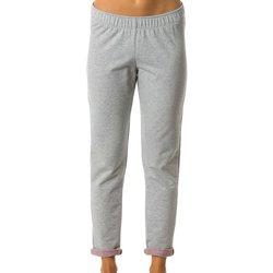 Abbigliamento Donna Pantaloni morbidi / Pantaloni alla zuava Everlast Pantalone Donna Strech Con Risvolto Grigio
