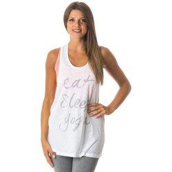 Abbigliamento Donna Top / T-shirt senza maniche Everlast Canotta Donna Yoga Jersey Bianco