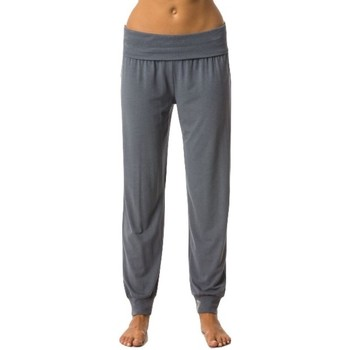 Abbigliamento Donna Pantaloni morbidi / Pantaloni alla zuava Everlast Pantalone Donna Yoga Jersey Grigio