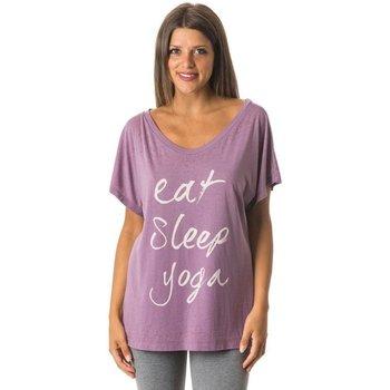 Abbigliamento Donna T-shirt maniche corte Everlast T-Shirt Donna Yoga Con Scritta Rosa