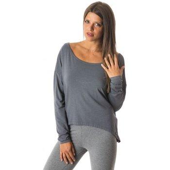 Abbigliamento Donna Maglioni Everlast Maglia Donna Yoga Maxi Jersey Grigio
