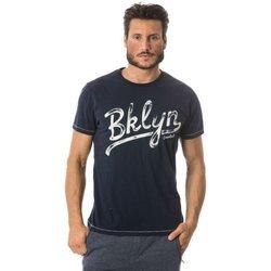 Abbigliamento Uomo T-shirt maniche corte Everlast Maglia Uomo Jersey Mano Carbonio Blu