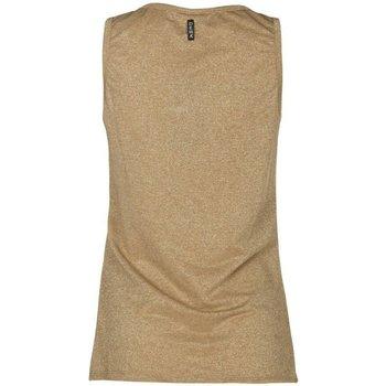 Abbigliamento Donna Top / T-shirt senza maniche Deha Canotta Donna Lurex Beige