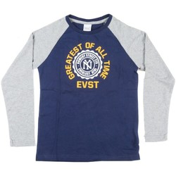 Abbigliamento Unisex bambino T-shirts a maniche lunghe Everlast Maglia maniche lunghe Blu