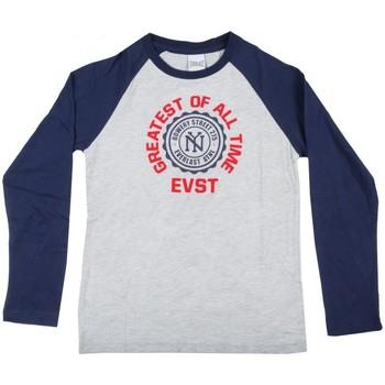 Abbigliamento Unisex bambino T-shirts a maniche lunghe Everlast Maglia maniche lunghe Grigio