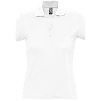 Abbigliamento Donna Polo maniche corte Sols PASSION WOMEN COLORS Blanco