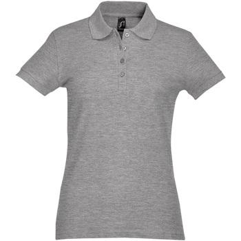 Abbigliamento Donna Polo maniche corte Sols PASSION WOMEN COLORS Gris