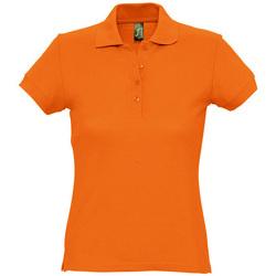 Abbigliamento Donna Polo maniche corte Sols PASSION WOMEN COLORS Naranja
