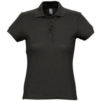 Abbigliamento Donna Polo maniche corte Sols PASSION WOMEN COLORS Negro