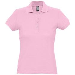 Abbigliamento Donna Polo maniche corte Sols PASSION WOMEN COLORS Rosa