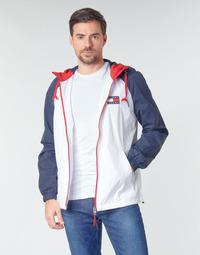 Abbigliamento Uomo Giubbotti Tommy Jeans TJM COLORBLOCK ZIPTHROUGH JCKT Bianco / Blu / Rosso
