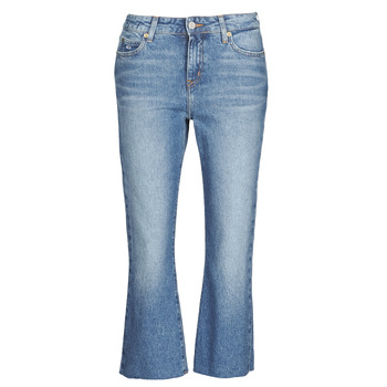 Abbigliamento Donna Jeans dritti Tommy Jeans KATIE CROP FLARE Blu / Medium