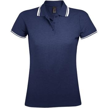 Abbigliamento Donna Polo maniche corte Sols PASADENA MODERN WOMEN Azul