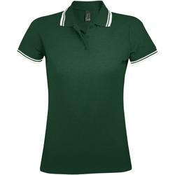 Abbigliamento Donna Polo maniche corte Sols PASADENA MODERN WOMEN Verde