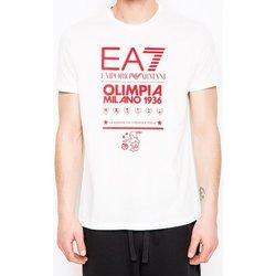 Abbigliamento Uomo T-shirt maniche corte Emporio Armani EA7 T-shirt uomo  Olimpia Milano Bianco