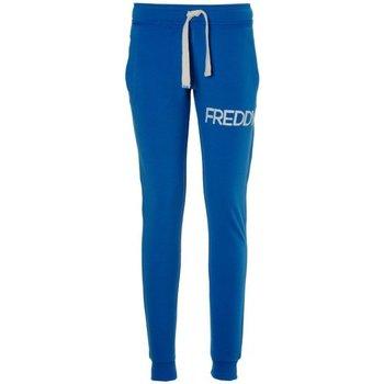 Abbigliamento Donna Pantaloni da tuta Freddy Pantalone donna polsino taglio a vivo Azzurro