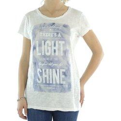 Abbigliamento Donna T-shirt maniche corte Deha Maxi t-shirt donna fiammata Bianco