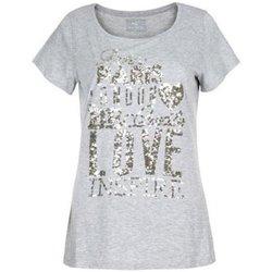 Abbigliamento Donna T-shirt maniche corte Deha T-shirt donna jersey paillettes Grigio