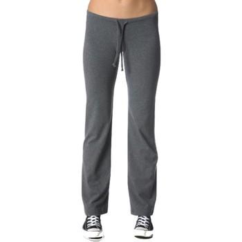 Abbigliamento Donna Pantaloni morbidi / Pantaloni alla zuava Everlast Pantalone donna Allison basic Grigio