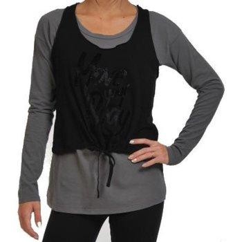 Abbigliamento Donna T-shirts a maniche lunghe Deha T-shirt donna Double Grigio