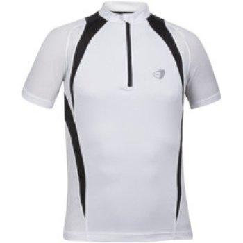 Abbigliamento T-shirt maniche corte Get Fit Maglia uomo con zip Bianco