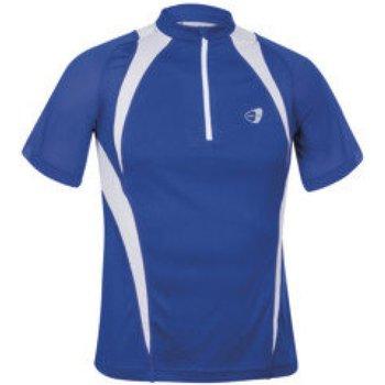 Abbigliamento T-shirt maniche corte Get Fit Maglia uomo con zip Blu