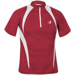 Abbigliamento T-shirt maniche corte Get Fit Maglia uomo con zip Rosso