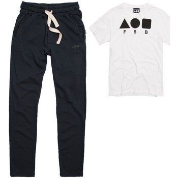 Abbigliamento Uomo Tuta Freddy Pantalone Fleece Street Blu