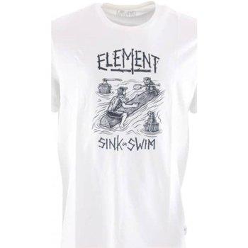 Abbigliamento Uomo T-shirt maniche corte Element T-Shirt Uomo Stampa Bianco