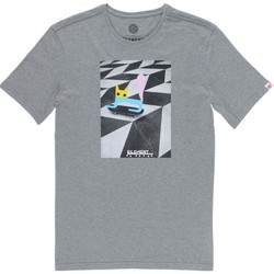 Abbigliamento Uomo T-shirt maniche corte Element T-Shirt Uomo El Gato Grigio