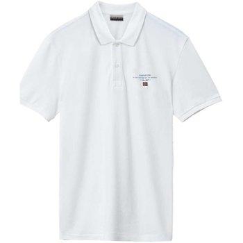 Abbigliamento Uomo Polo maniche corte Napapijri Polo Uomo Elbas Bianco