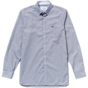 Abbigliamento Uomo Camicie maniche lunghe Lacoste Camicia Uomo Botton Down Blu