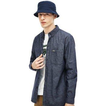 Abbigliamento Uomo Camicie maniche lunghe Lacoste Camicia Uomo Cotone Lino Fantasia