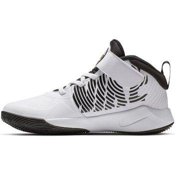 Scarpe Unisex bambino Pallacanestro Nike Scarpe Bambino Team Hustle D9 Bianco