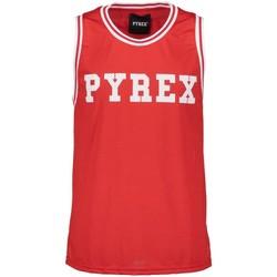 Abbigliamento Uomo Top / T-shirt senza maniche Pyrex Canotta Traforata Uomo Rosso