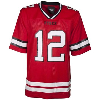 Abbigliamento Uomo T-shirt maniche corte Pyrex T-shirt Football Uomo Rosso
