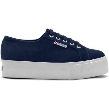 Scarpe Donna Sneakers basse Superga Scarpe Donna Platform Velour Blu