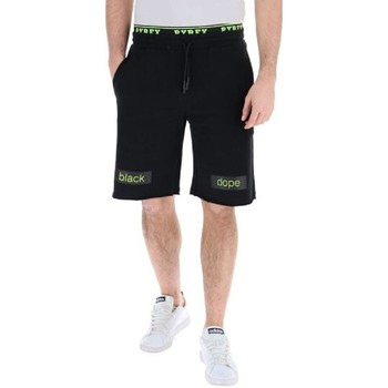Abbigliamento Uomo Shorts / Bermuda Pyrex Short Uomo Elastico & Stampa Fluo Nero