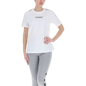 Abbigliamento Donna T-shirt maniche corte Pyrex T-Shirt Donna Glitter Banda Bianco