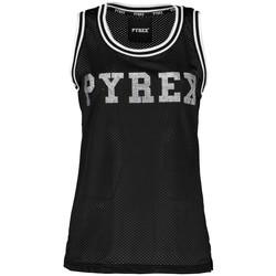 Abbigliamento Donna Top / T-shirt senza maniche Pyrex Canotta Donna Rete Glitter Nero