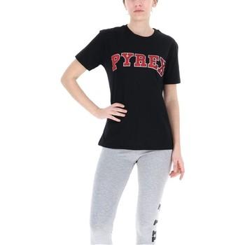 Abbigliamento Donna T-shirt maniche corte Pyrex T-Shirt Donna Glitter Nero