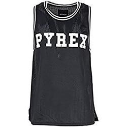 Abbigliamento Uomo Top / T-shirt senza maniche Pyrex Canotta Uomo Rete Casual Nero