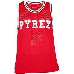 Abbigliamento Uomo Top / T-shirt senza maniche Pyrex Canotta Uomo Rete Casual Rosso