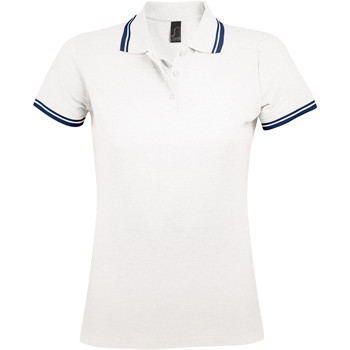 Abbigliamento Donna Polo maniche corte Sols PASADENA MODERN WOMEN Blanco