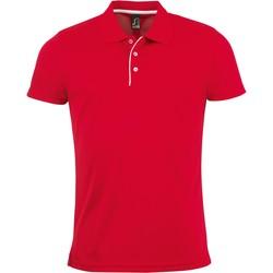 Abbigliamento Uomo Polo maniche corte Sols PERFORMER MEN SPORT Rojo